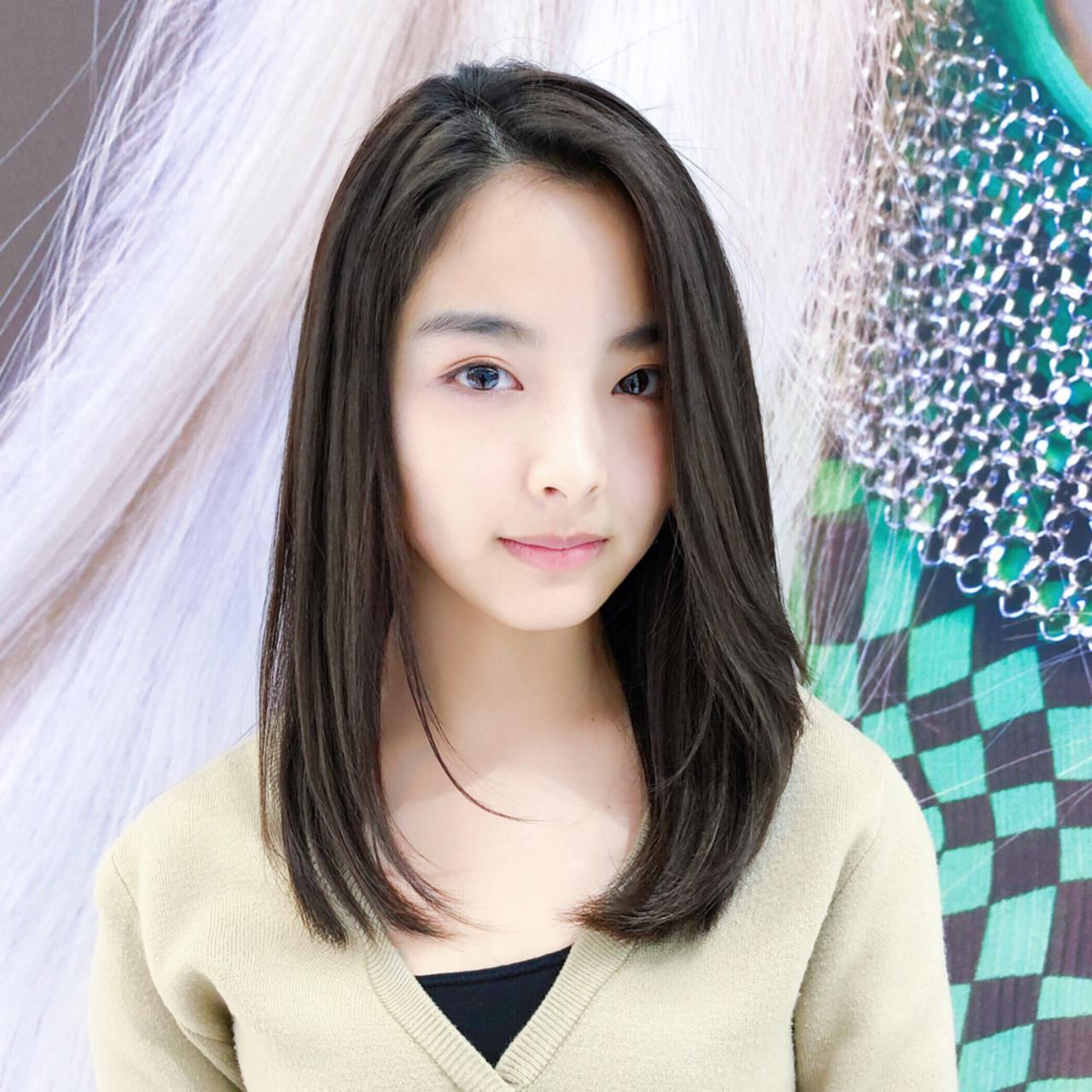 前髪なしで大人美人!かき上げバングで美しく 趙 英来