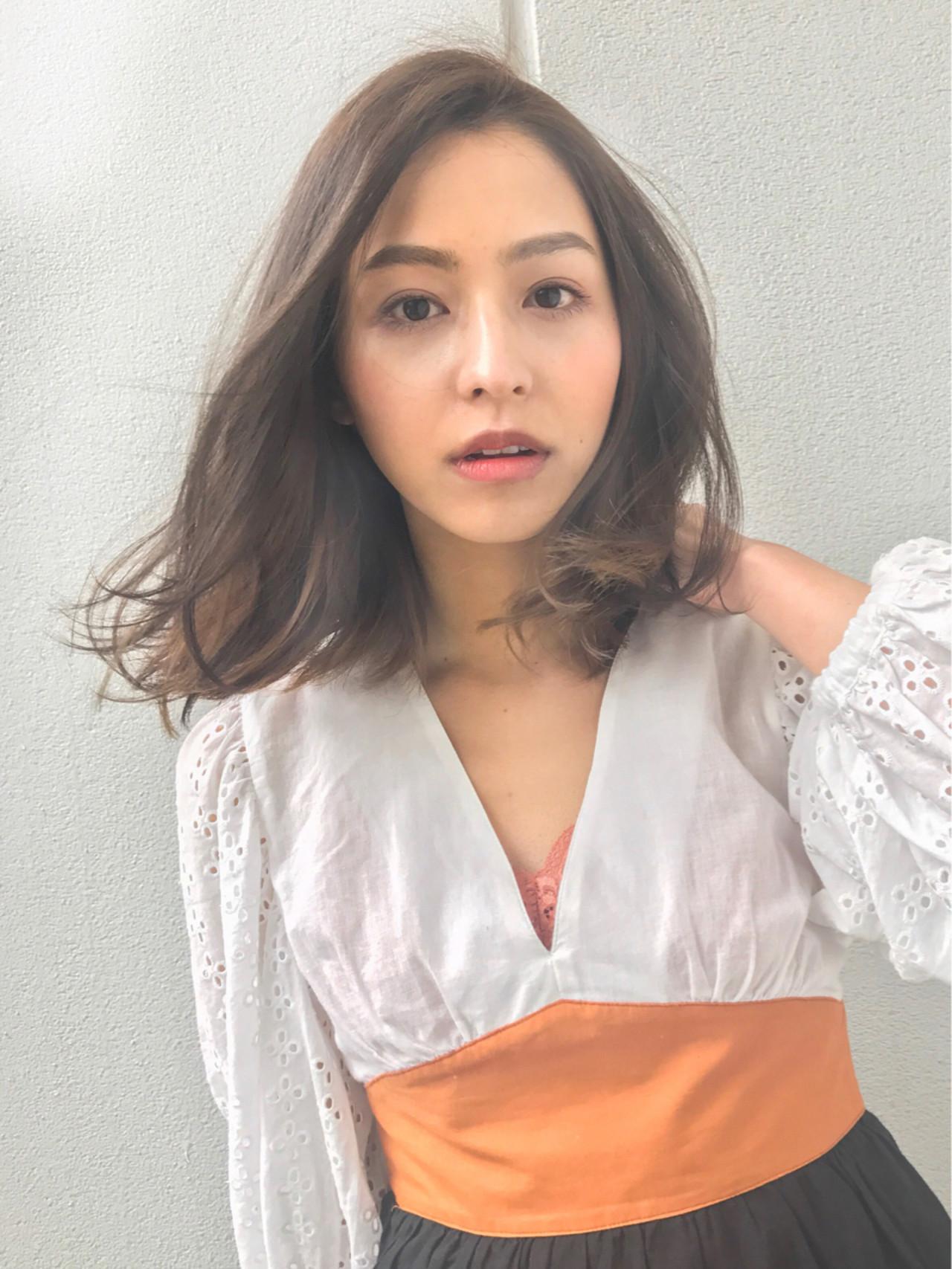 ミディアムロブでキメるビジネスパーマヘア♡ GARDEN harajyuku 細田