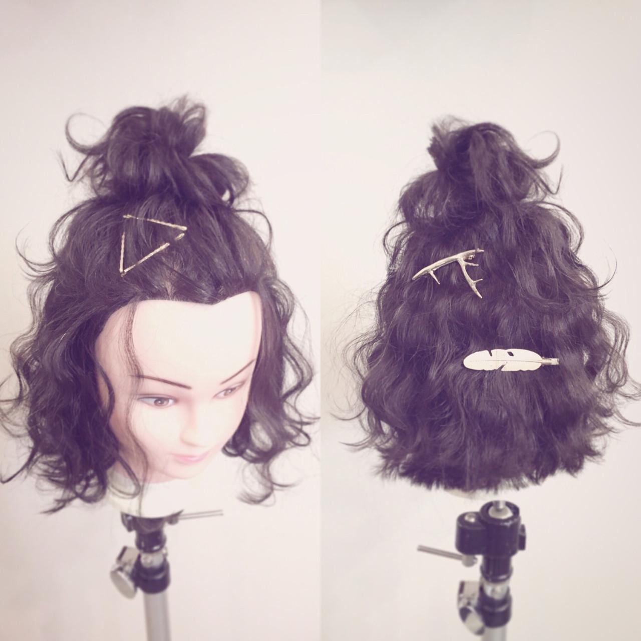 伸ばしかけの前髪アップ!前髪なしのすっきりヘア 平岡 歩