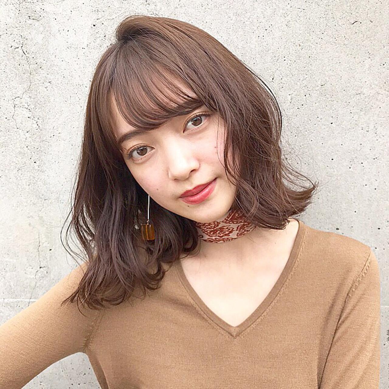 逆三角形さんは頬から動くゆるふわヘアに 伊藤愛子 GARDEN