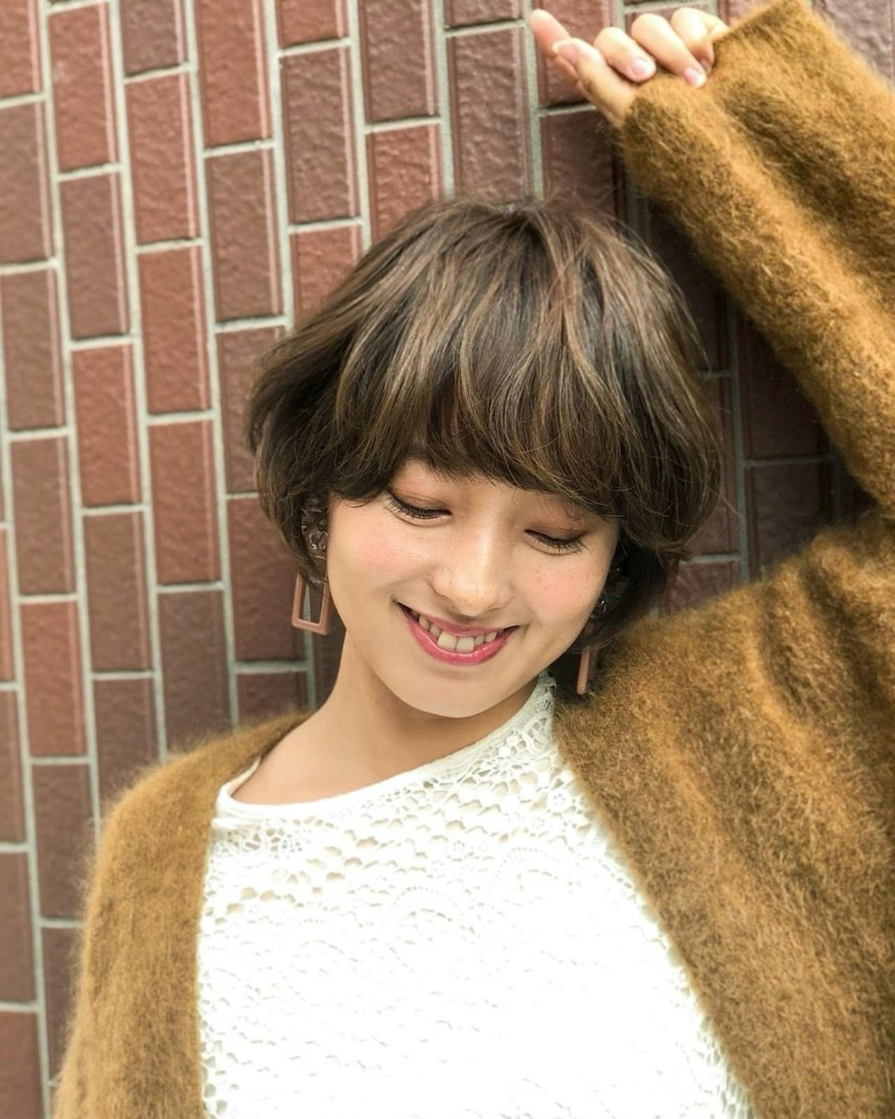 マッシュ ハイライト 大人かわいい アッシュ ヘアスタイルや髪型の写真・画像