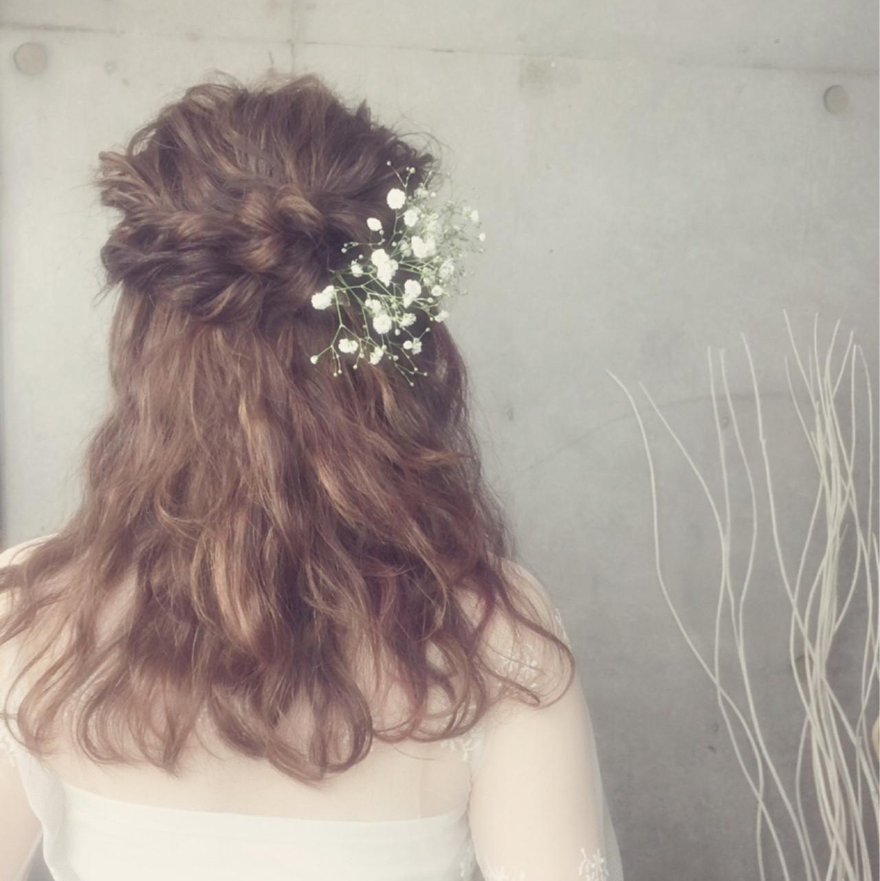 花嫁 ブライダル ヘアアレンジ 外国人風 ヘアスタイルや髪型の写真・画像
