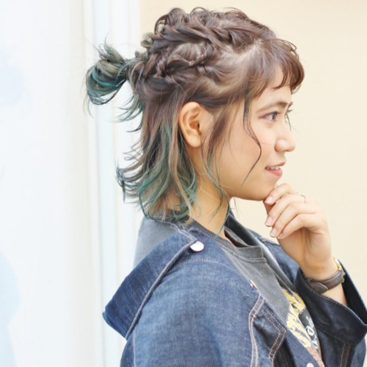 編み込み×くるりんぱのお団子ハーフアップ 北村 雄吾