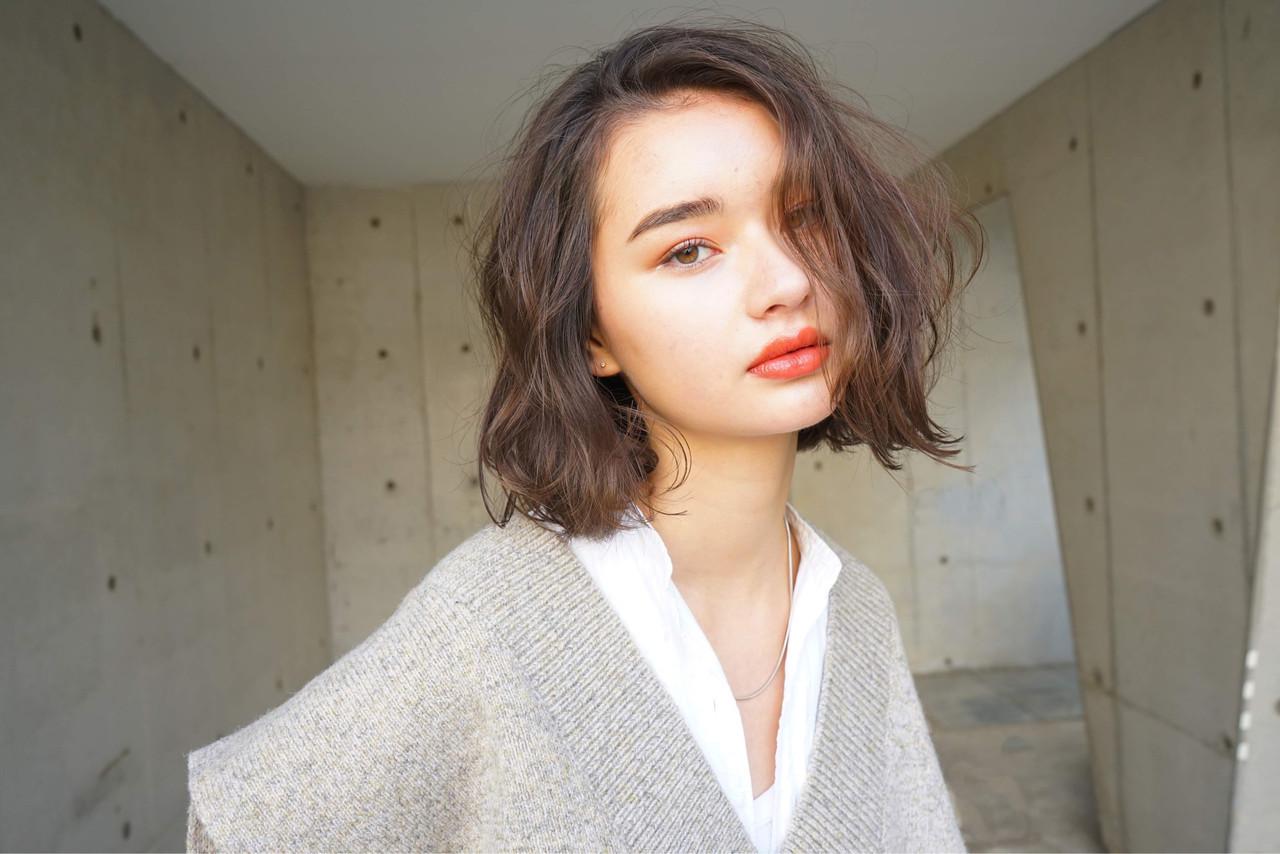 簡単ヘアアレンジ アンニュイほつれヘア ボブ  ヘアスタイルや髪型の写真・画像