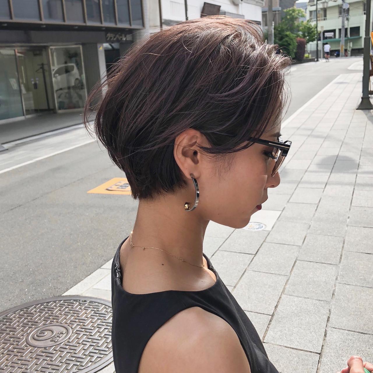 ナチュラル ショート ハンサムショート 簡単スタイリング ヘアスタイルや髪型の写真・画像