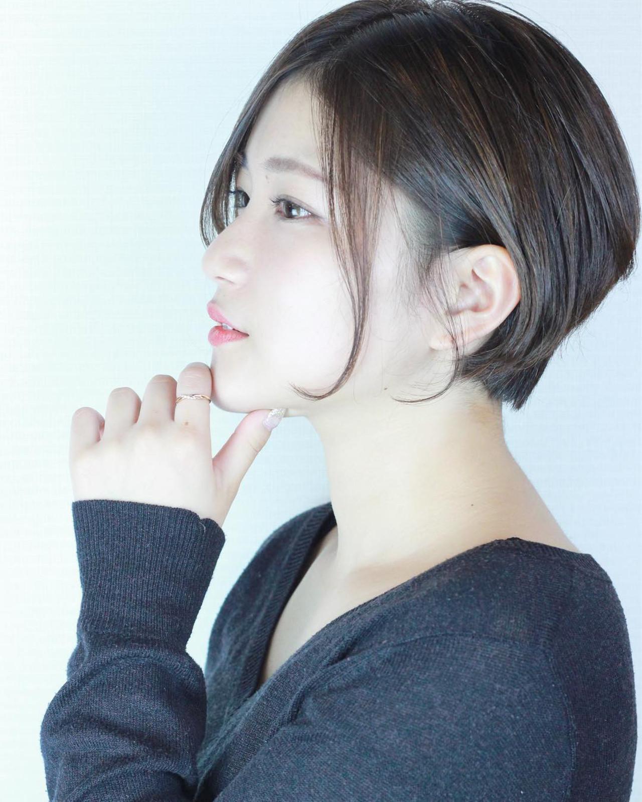 耳かけアレンジですっきり清潔感あるボブ 松田 和幸 / K.Y.A.