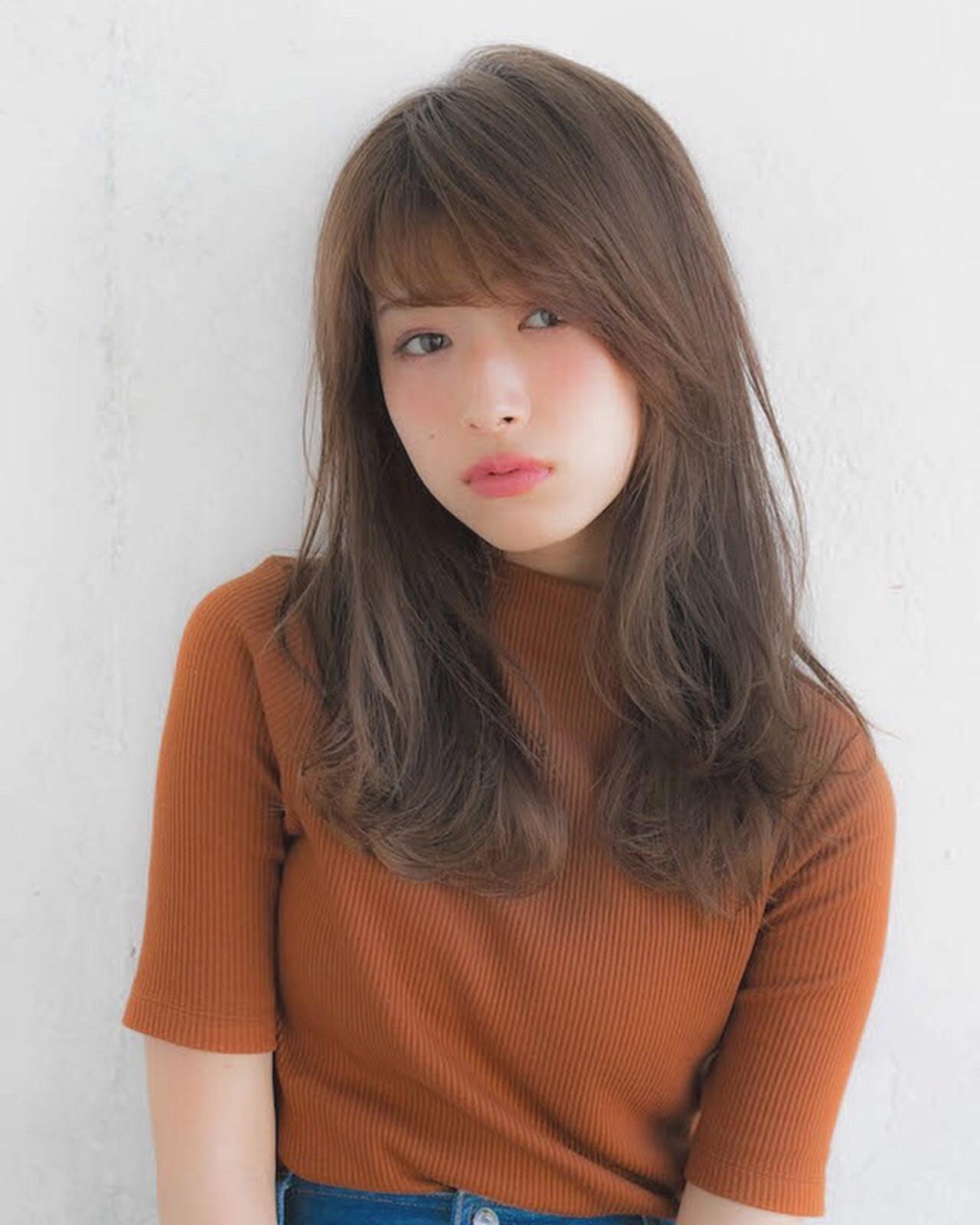 流し前髪で面長さんをフェミニンにみせる 竹澤 優/relian銀座Top stylist