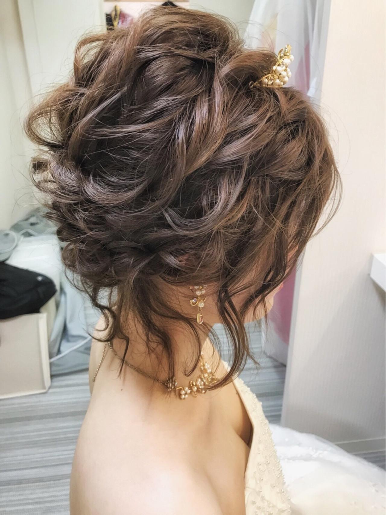 結婚式 エレガント 上品 ヘアアレンジ ヘアスタイルや髪型の写真・画像