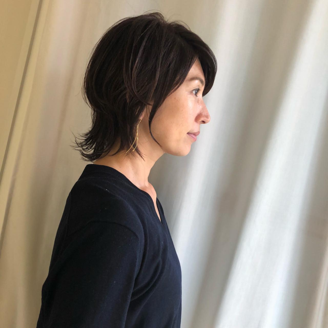 大人かっこいい♡50代女性の小顔ヘア 岩城 浩子