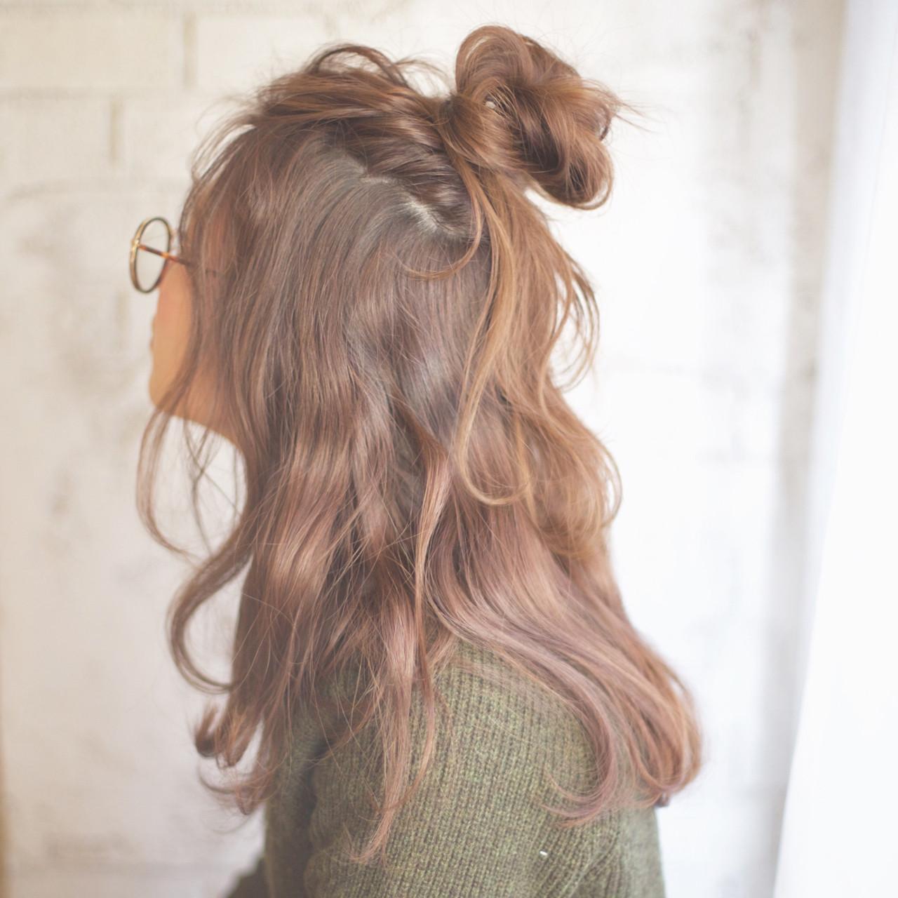 簡単 簡単ヘアアレンジ セミロング ショート ヘアスタイルや髪型の写真・画像