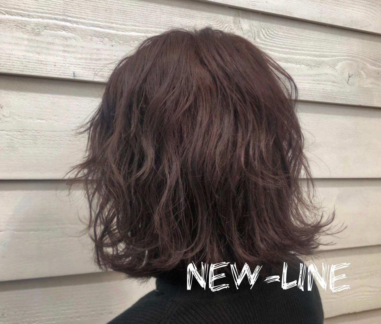 暖色 外ハネ ストリート ボブ ヘアスタイルや髪型の写真・画像