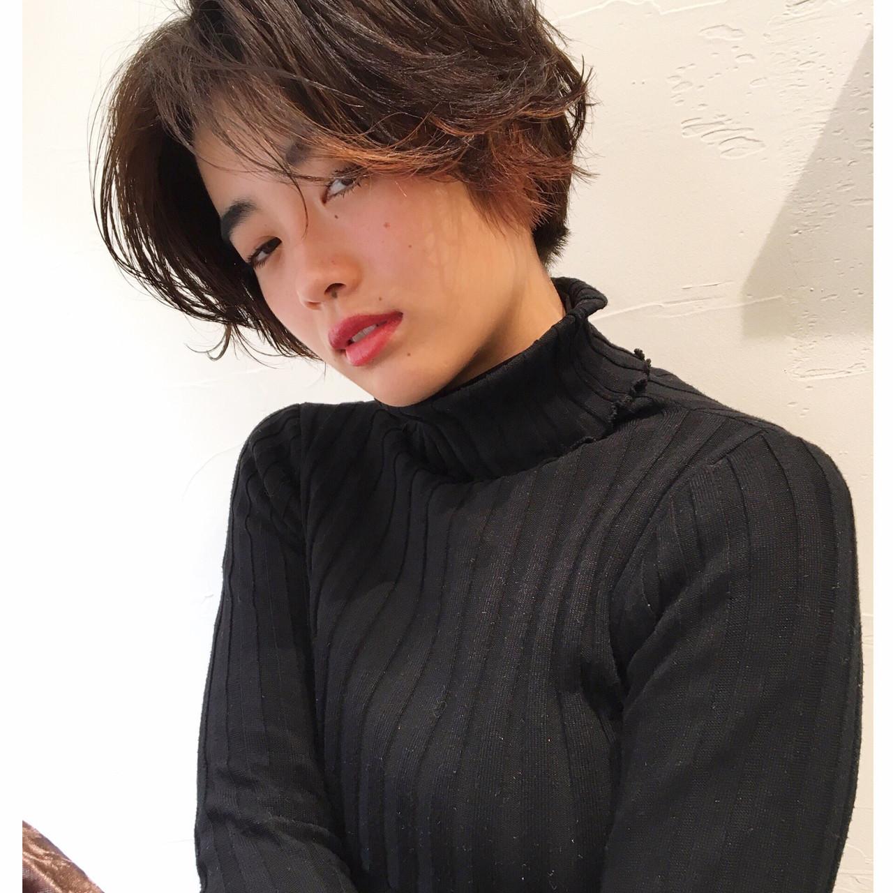 好感度◎「黒髪×ハイライト」でイメチェン!色落ちしてもかわいい♡