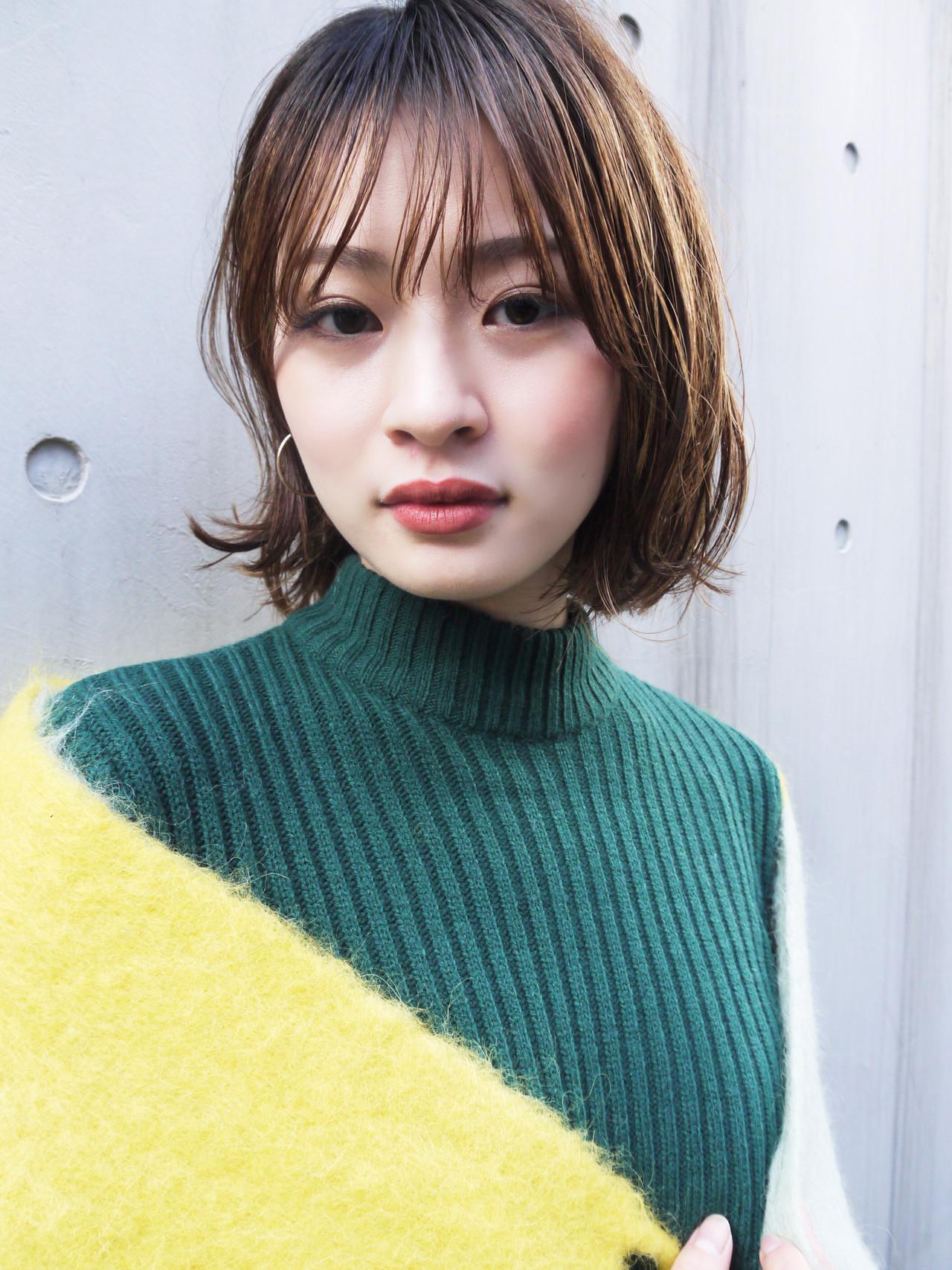 大人かわいい シースルーバング オフィス 大人女子 ヘアスタイルや髪型の写真・画像