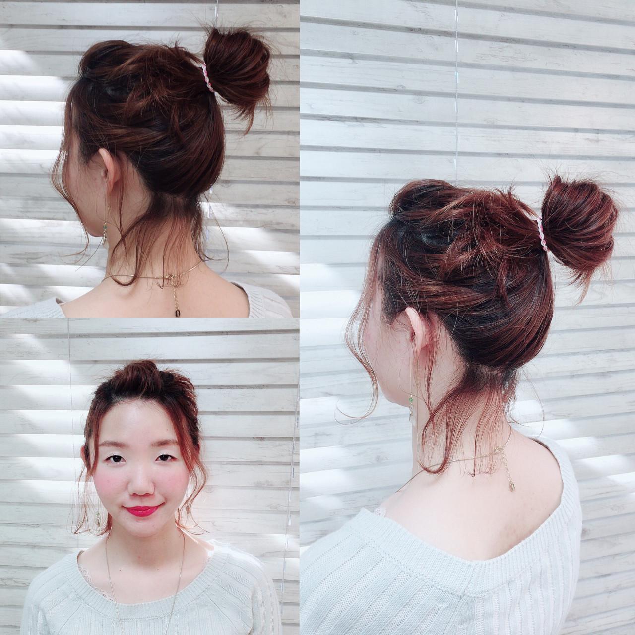 ヘアアレンジ 簡単ヘアアレンジ 伸ばしかけ ボブ ヘアスタイルや髪型の写真・画像