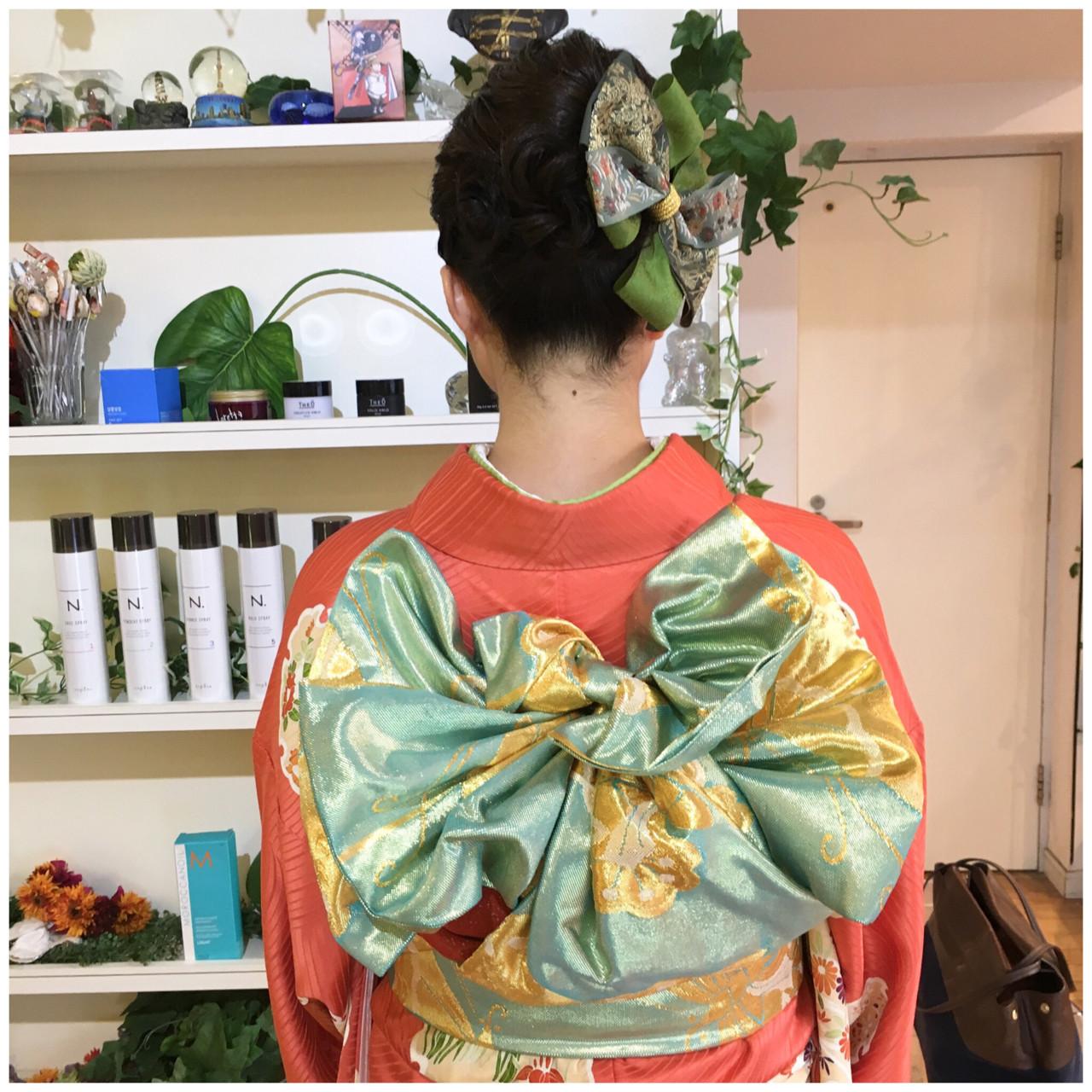ゴージャスなヘアアクセで和装をおしゃれに Yumi Hiramatsu