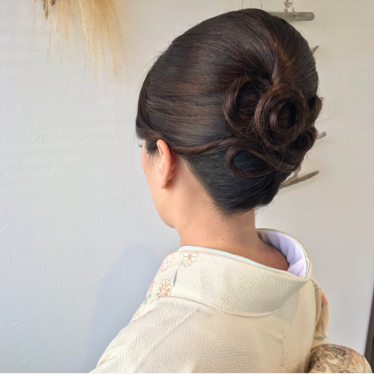 和装 ヘアアレンジ ロング 上品 ヘアスタイルや髪型の写真・画像