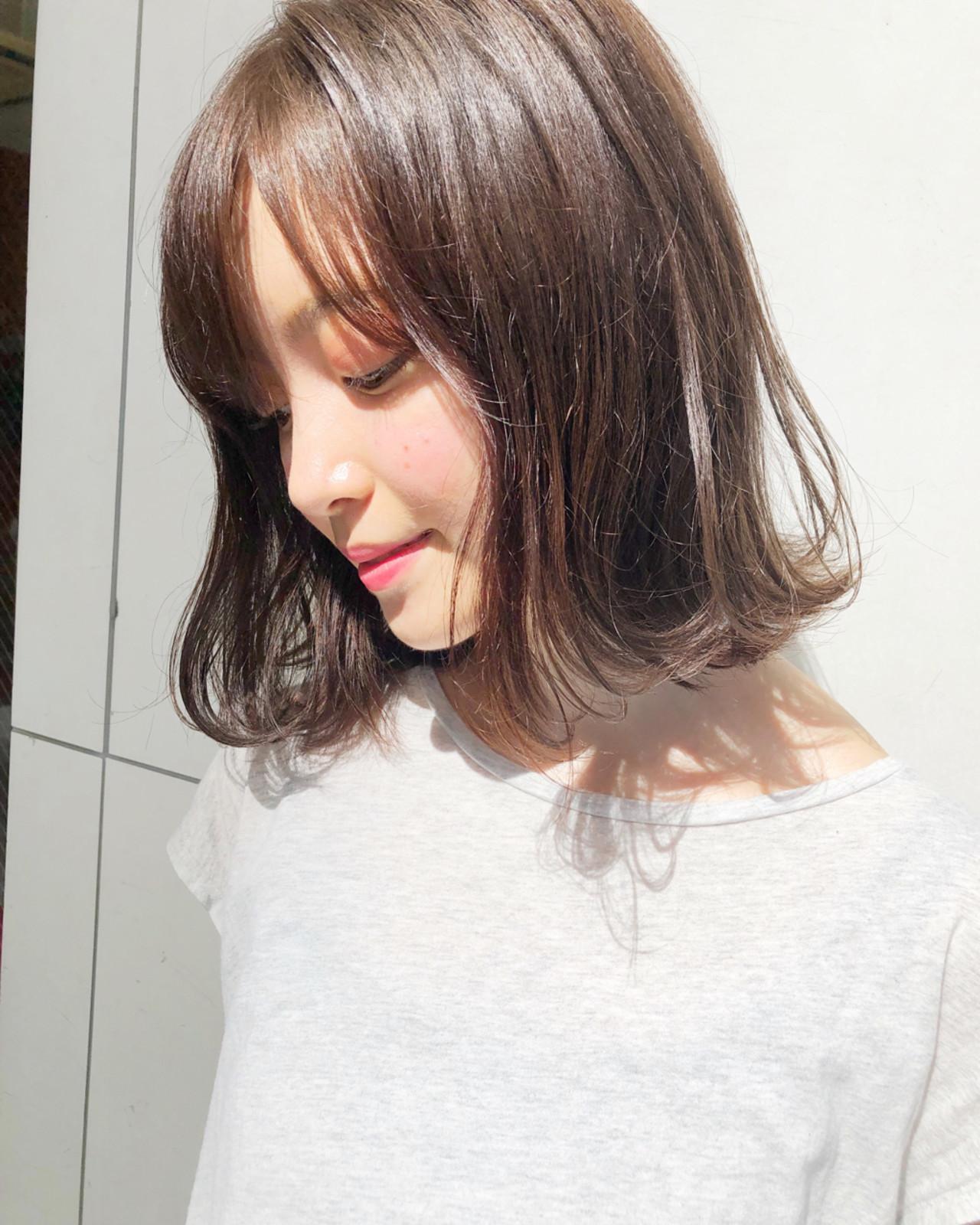 ボブ エフォートレス 外ハネ フェミニン ヘアスタイルや髪型の写真・画像