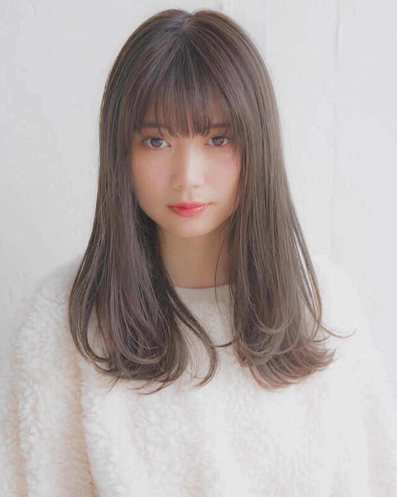 束感×ぱっつん前髪で大人可愛く 竹澤 優/relian銀座Top stylist