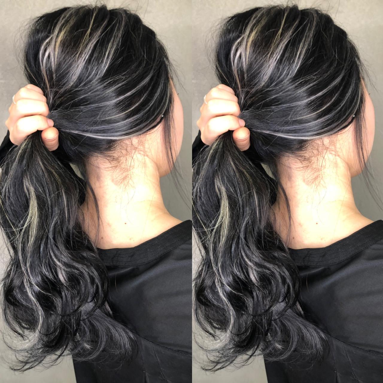 外国人風カラー ナチュラル アンニュイほつれヘア ハイライト ヘアスタイルや髪型の写真・画像
