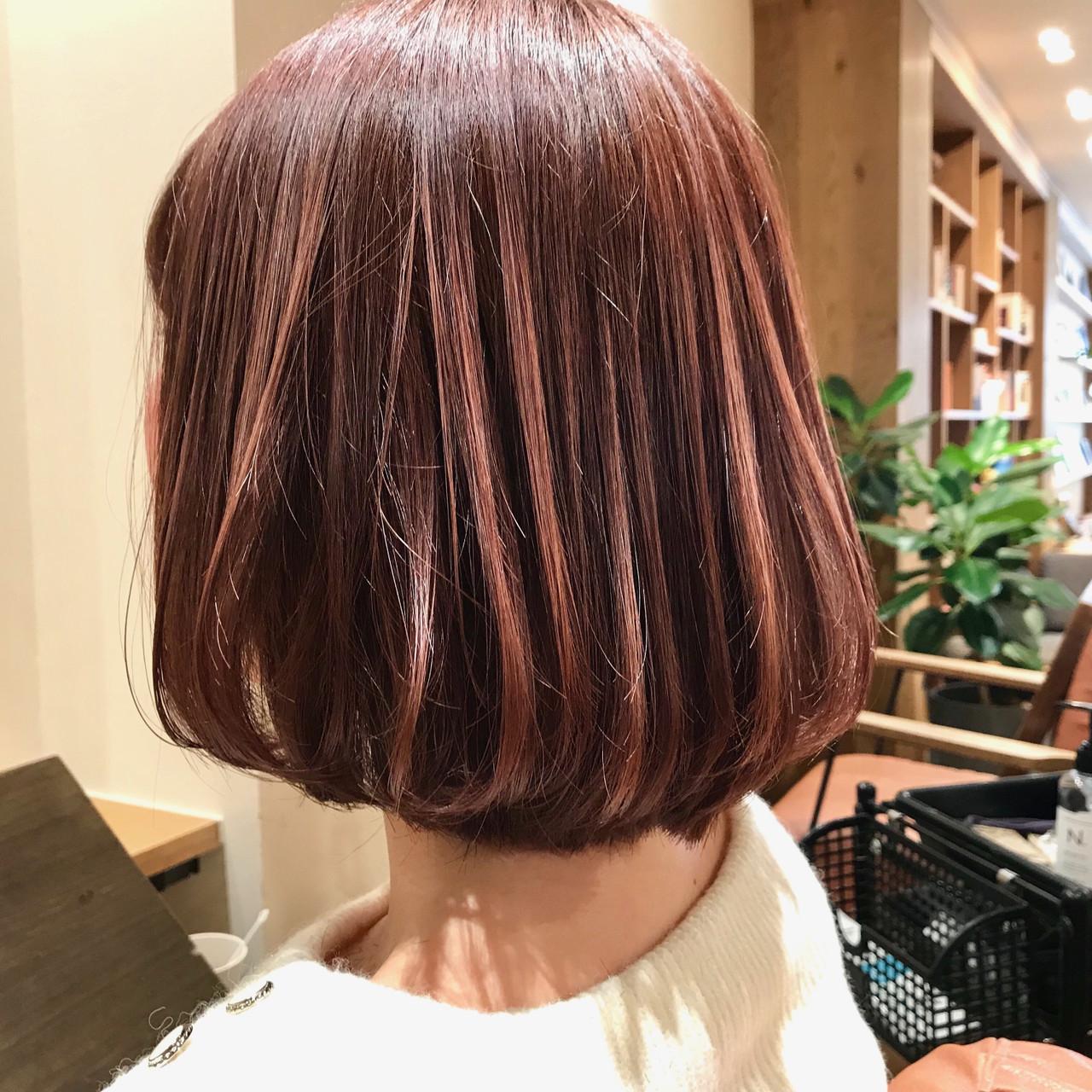 キュートな髪色のアッシュピンク 村西 郁人