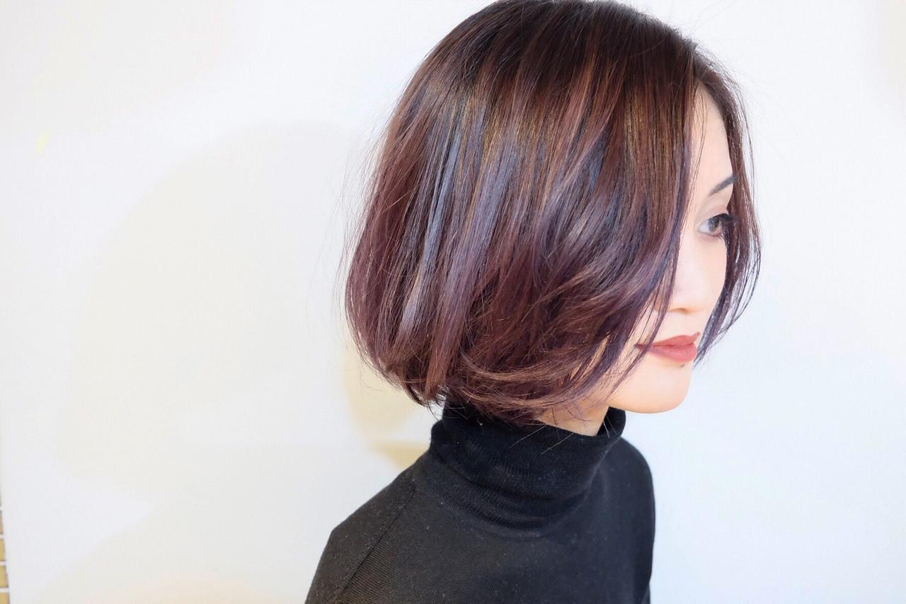 バイオレット系カラーで美人髪♡ Maxi