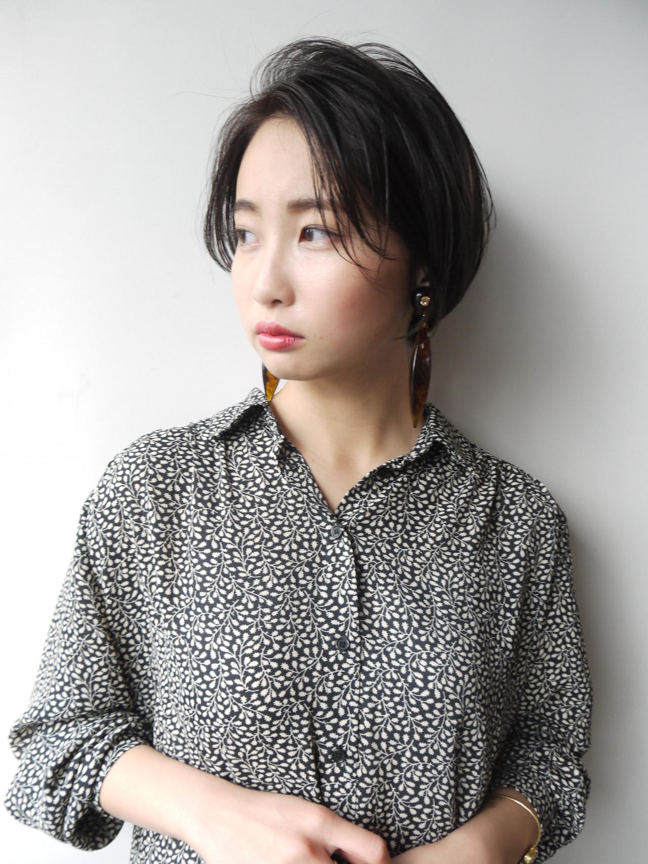 前髪なしの上品で知的なショートヘア 矢木 智浩/morio原宿