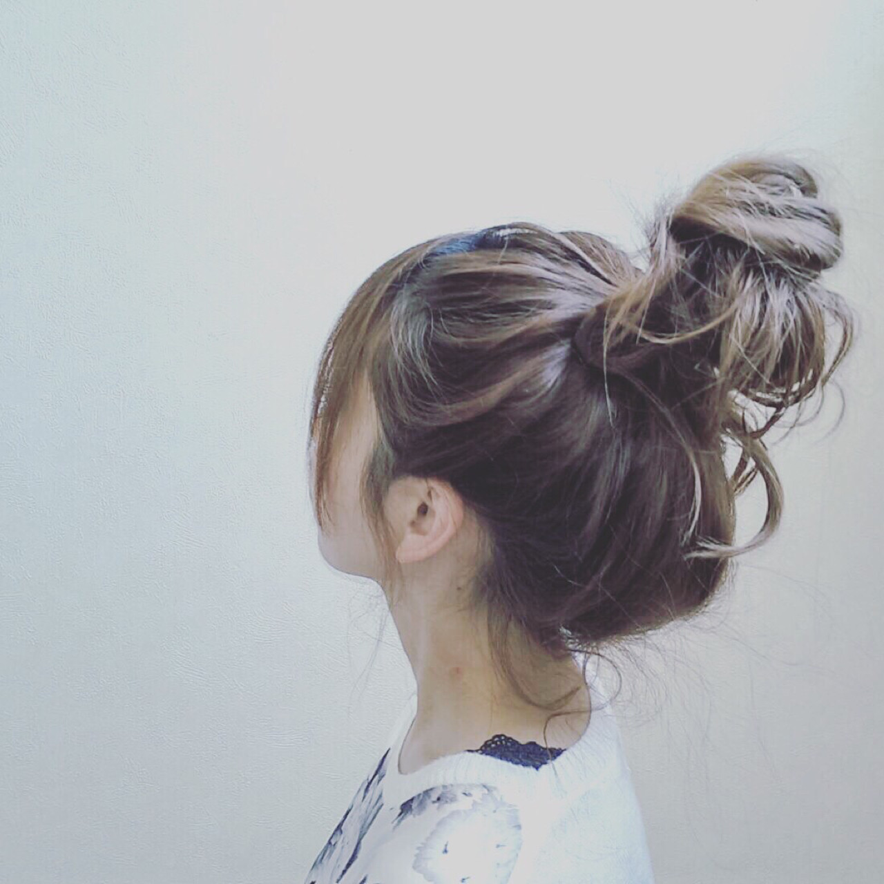 女の子度アップの大人可愛いお団子ヘア 宮川 美香