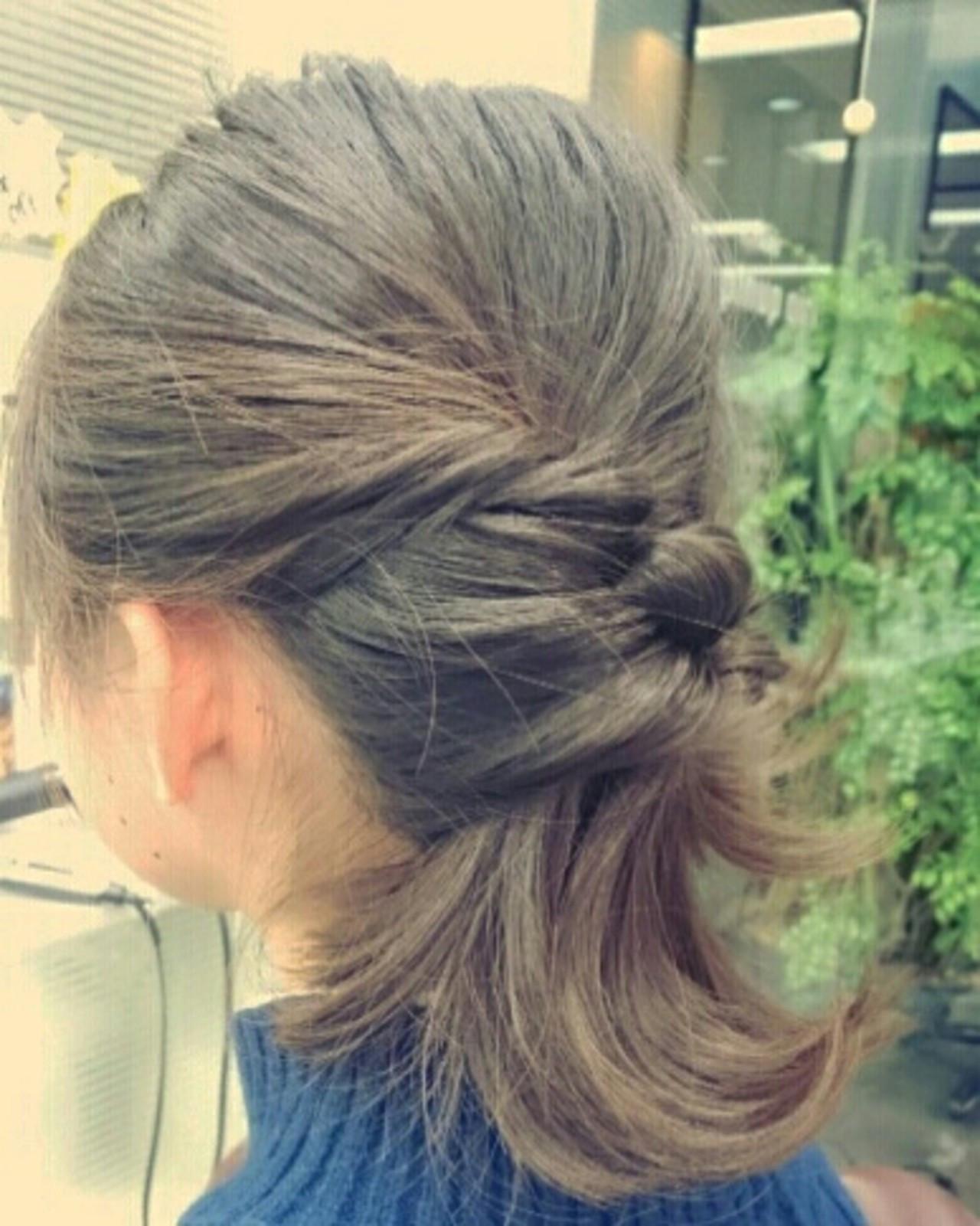 重い髪はくるりんぱですっきり♪ minori kato
