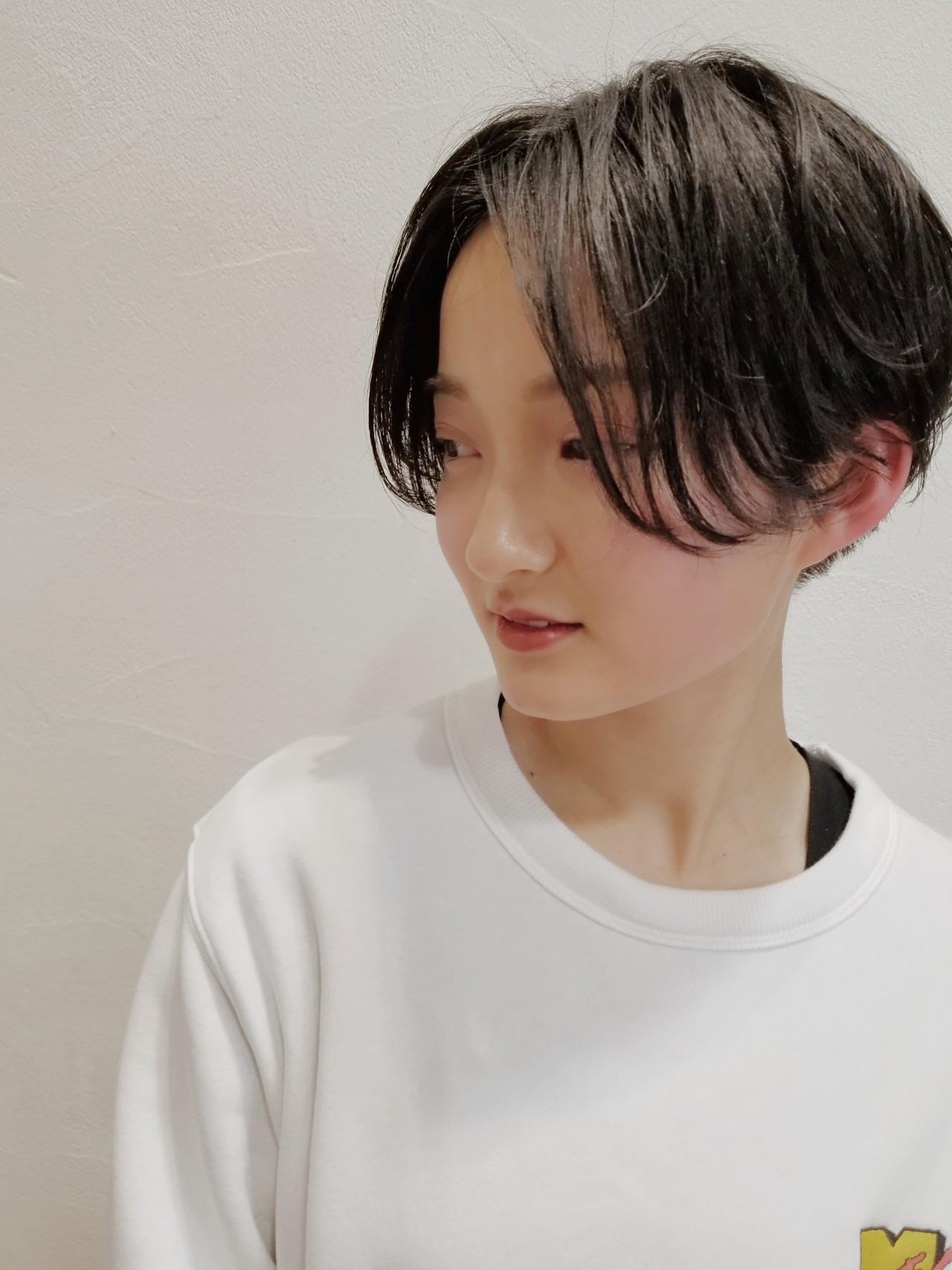洗練された黒髪スポーティーショート 川田 義人 GREEK hairdesign