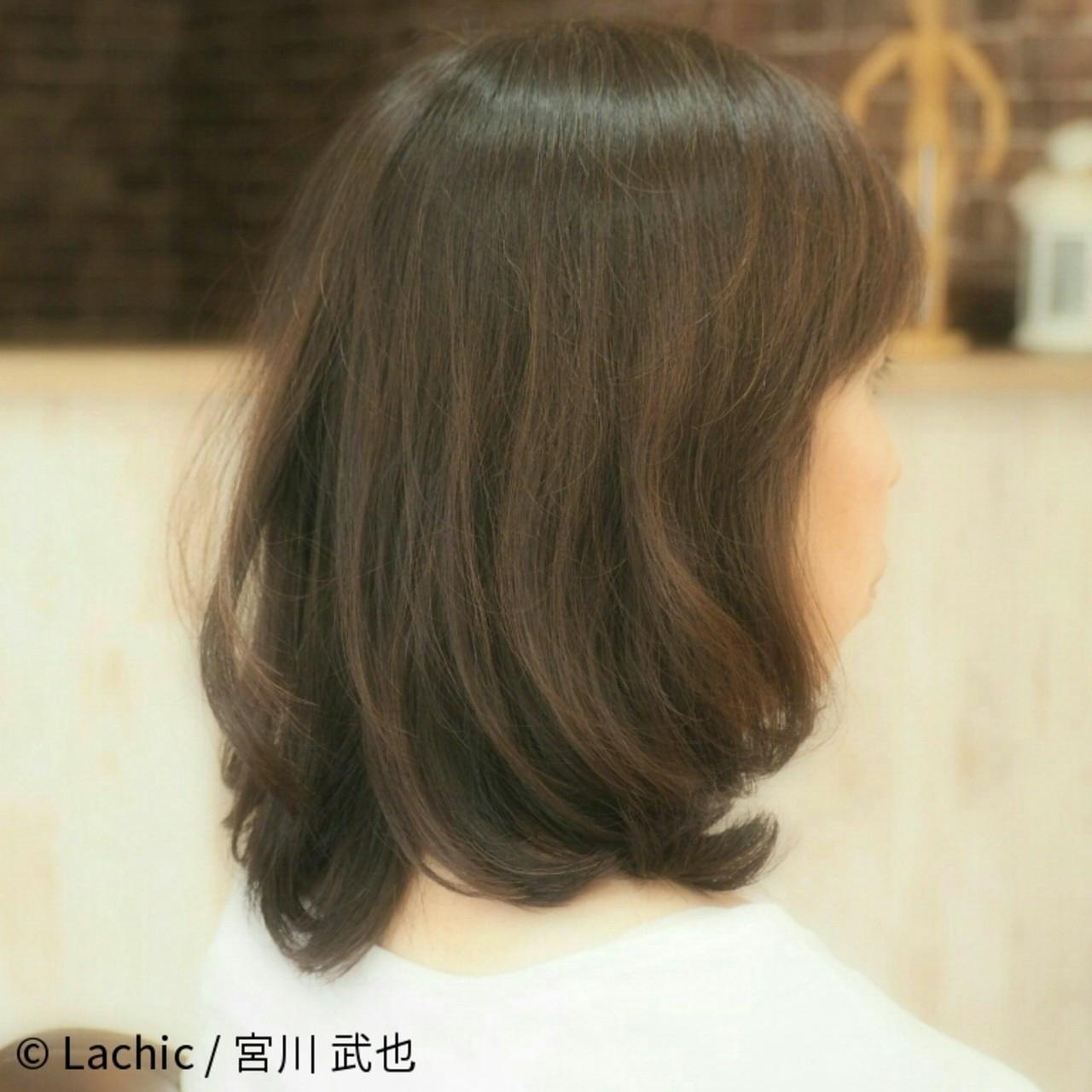 ナチュラルにキメて♡毛先ワンカールヘア Lachic / 宮川 武也