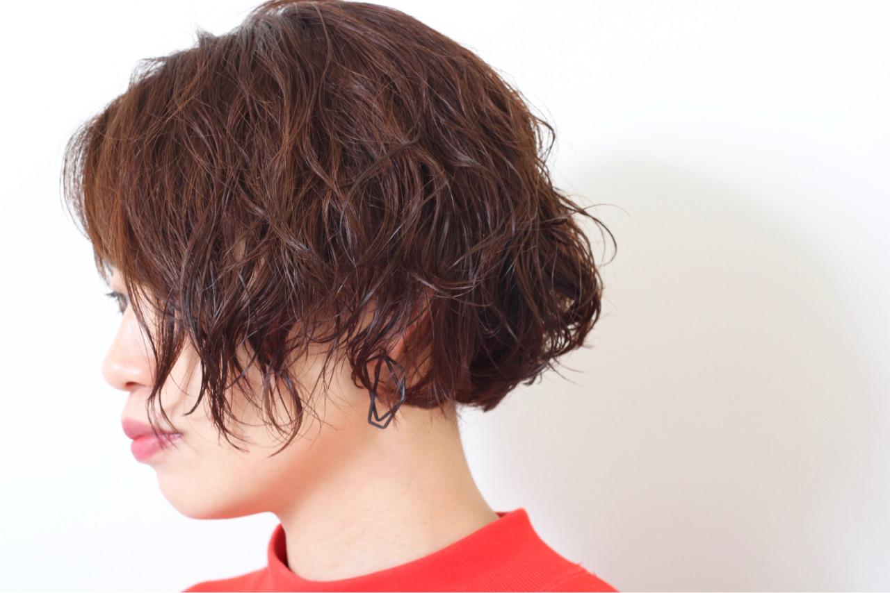 簡単 外国人風 パーマ ナチュラル ヘアスタイルや髪型の写真・画像