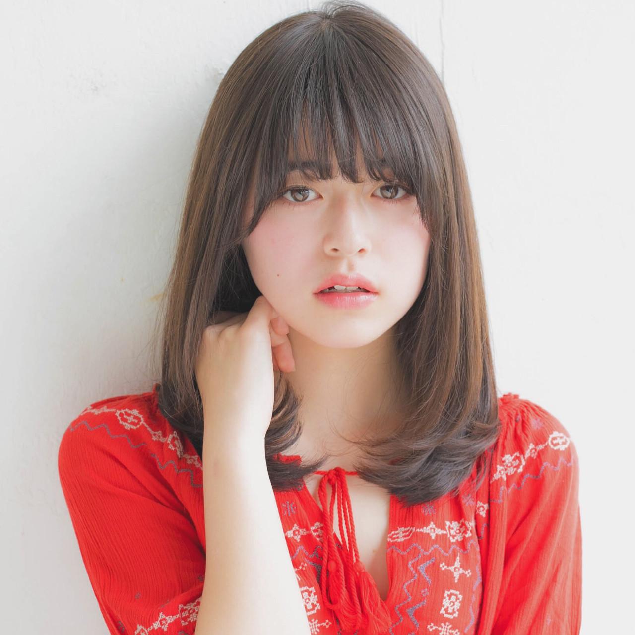 重めぱっつん前髪で大人っぽい印象 竹澤 優/relian銀座Top stylist
