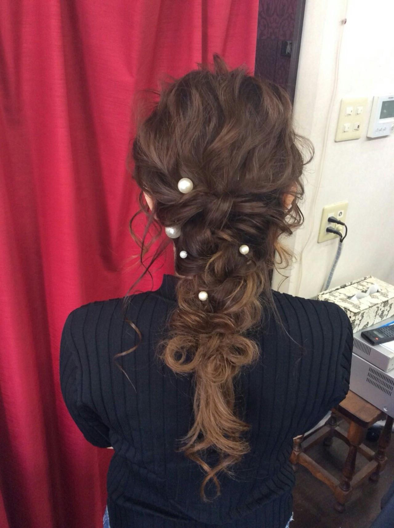 ロングヘアにおすすめ♡ゆる編みハーフアップ rumiLINKS美容室