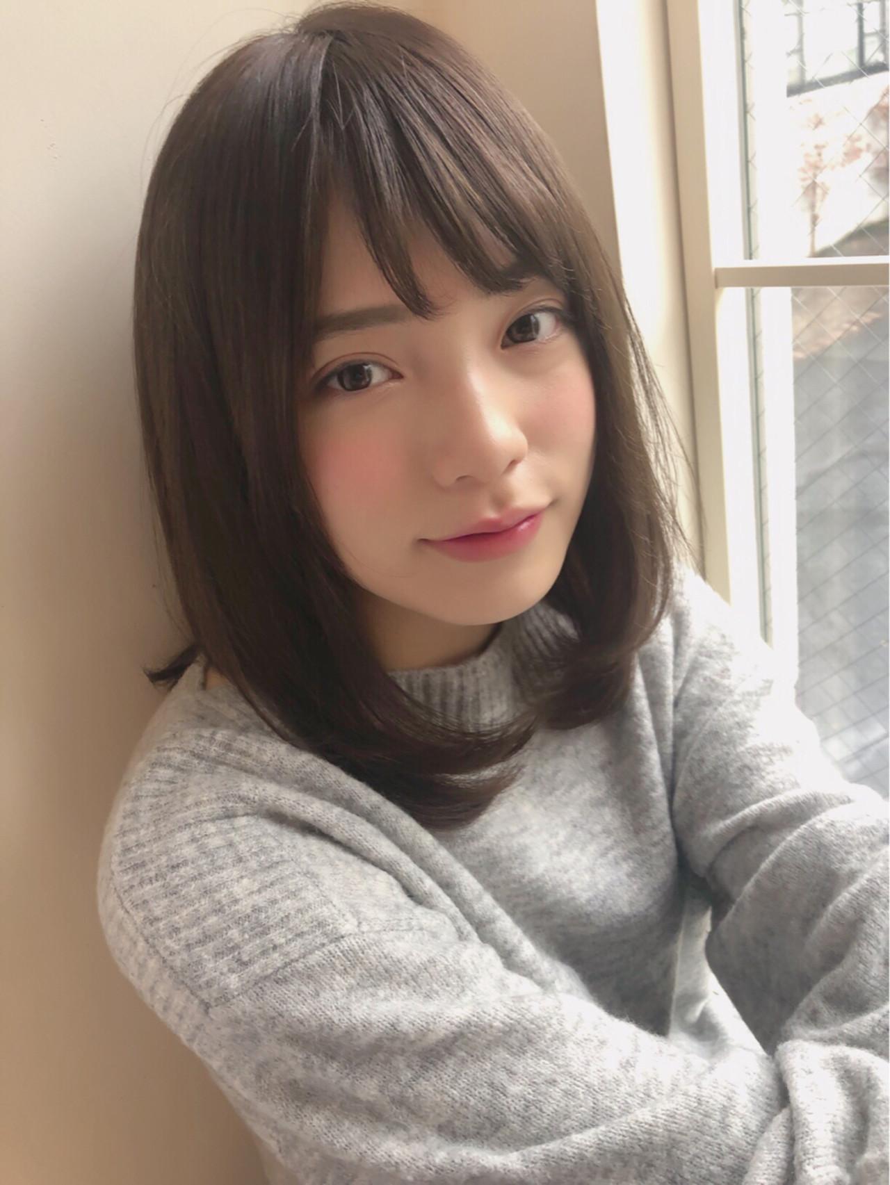 重め前髪は束感で軽やかなニュアンス 田塚 裕志 GARDEN omotesando