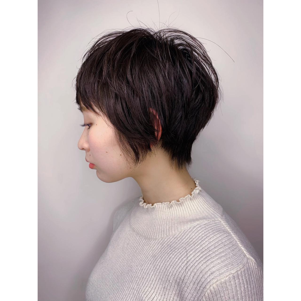 ショートボブ ハンサムショート ショートバング ベリーショート ヘアスタイルや髪型の写真・画像