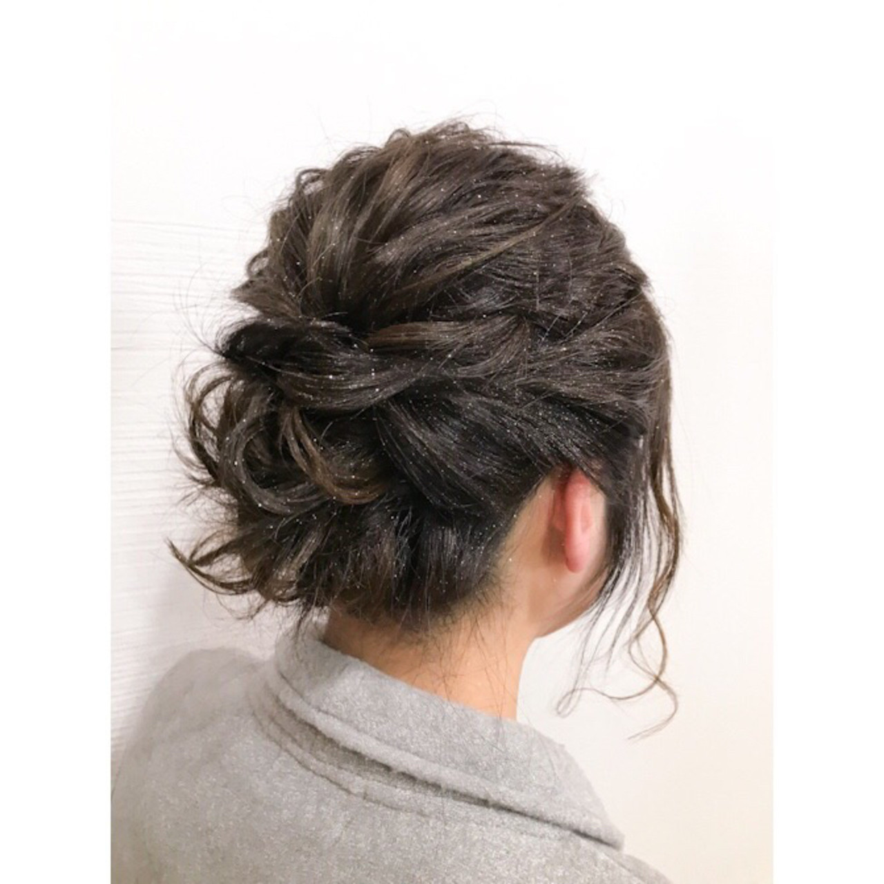 簡単ヘアアレンジ ナチュラル ボブ ヘアアレンジ ヘアスタイルや髪型の写真・画像