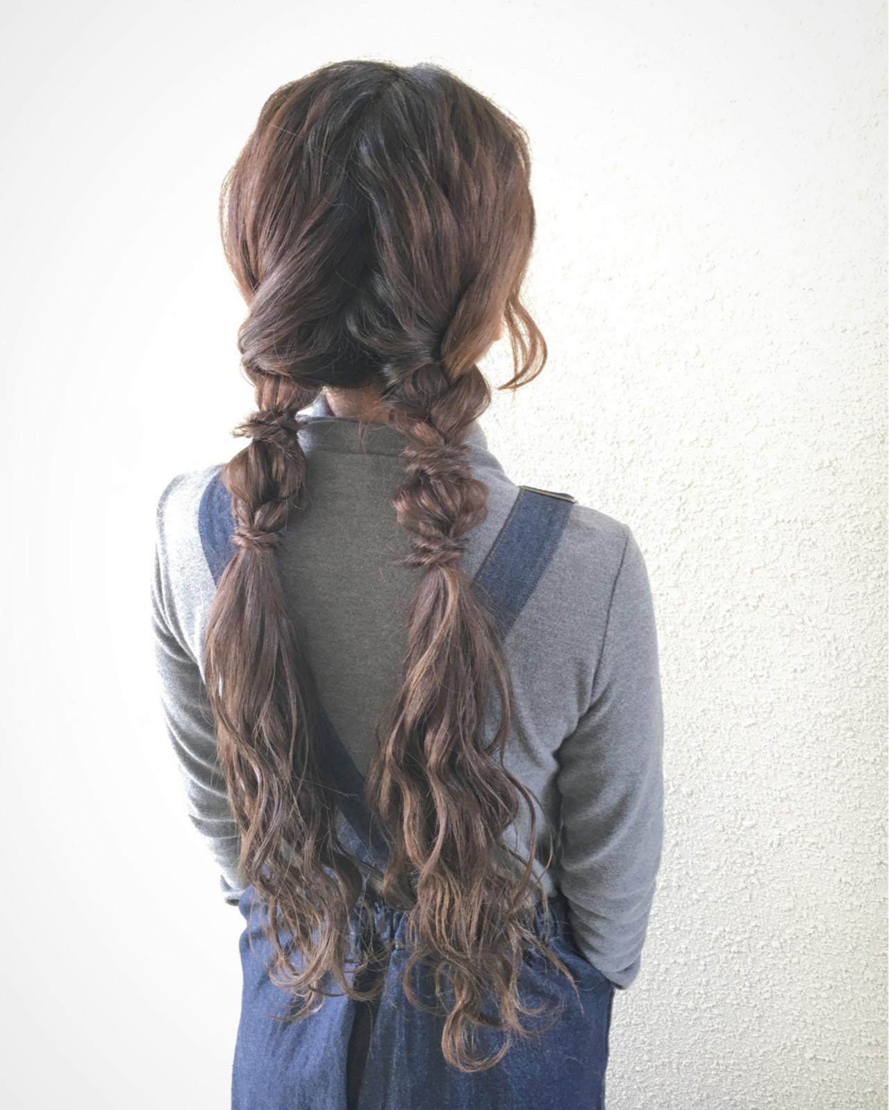 外国人風 ナチュラル 簡単ヘアアレンジ ロング ヘアスタイルや髪型の写真・画像