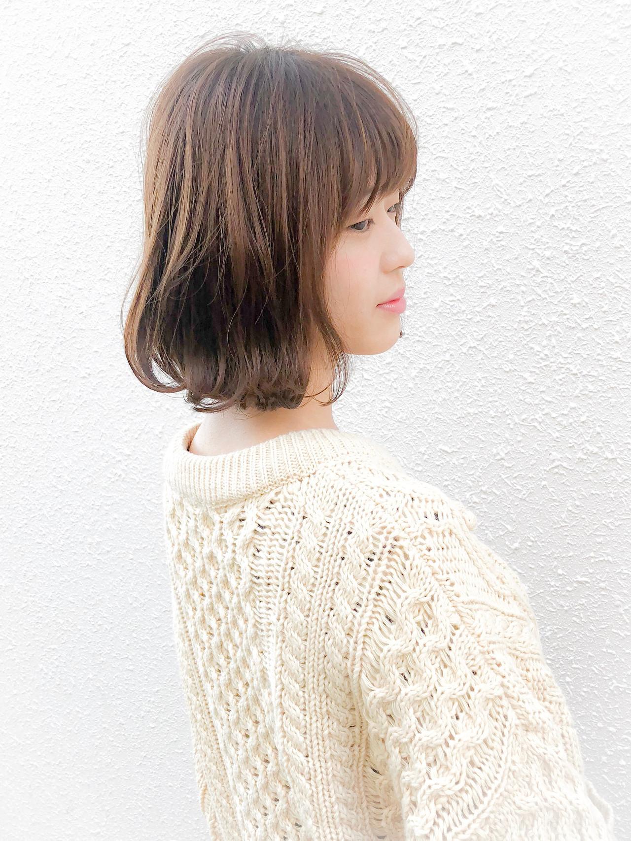 柔らか前髪で大人可愛いフェミニンボブ Kaoru_ishiga