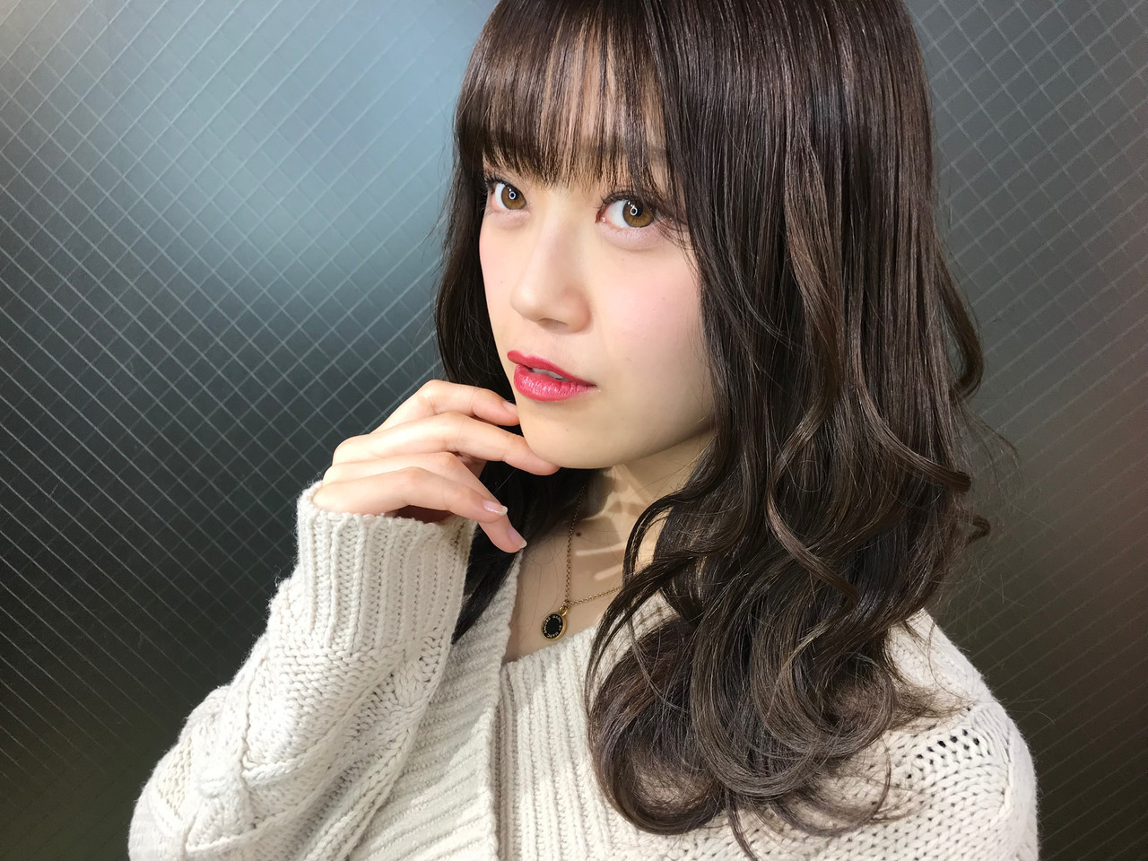ローライト うる艶カラー セミロング グラデーションカラー ヘアスタイルや髪型の写真・画像
