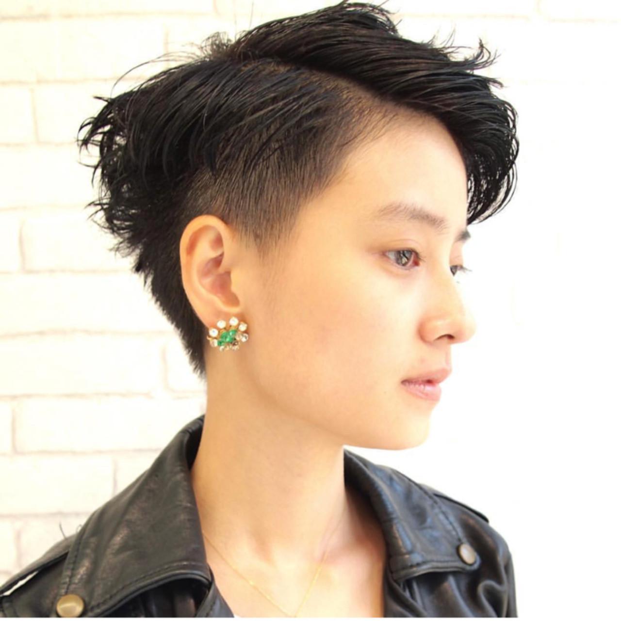 ショート ベリーショート ジェンダーレス ストリート ヘアスタイルや髪型の写真・画像