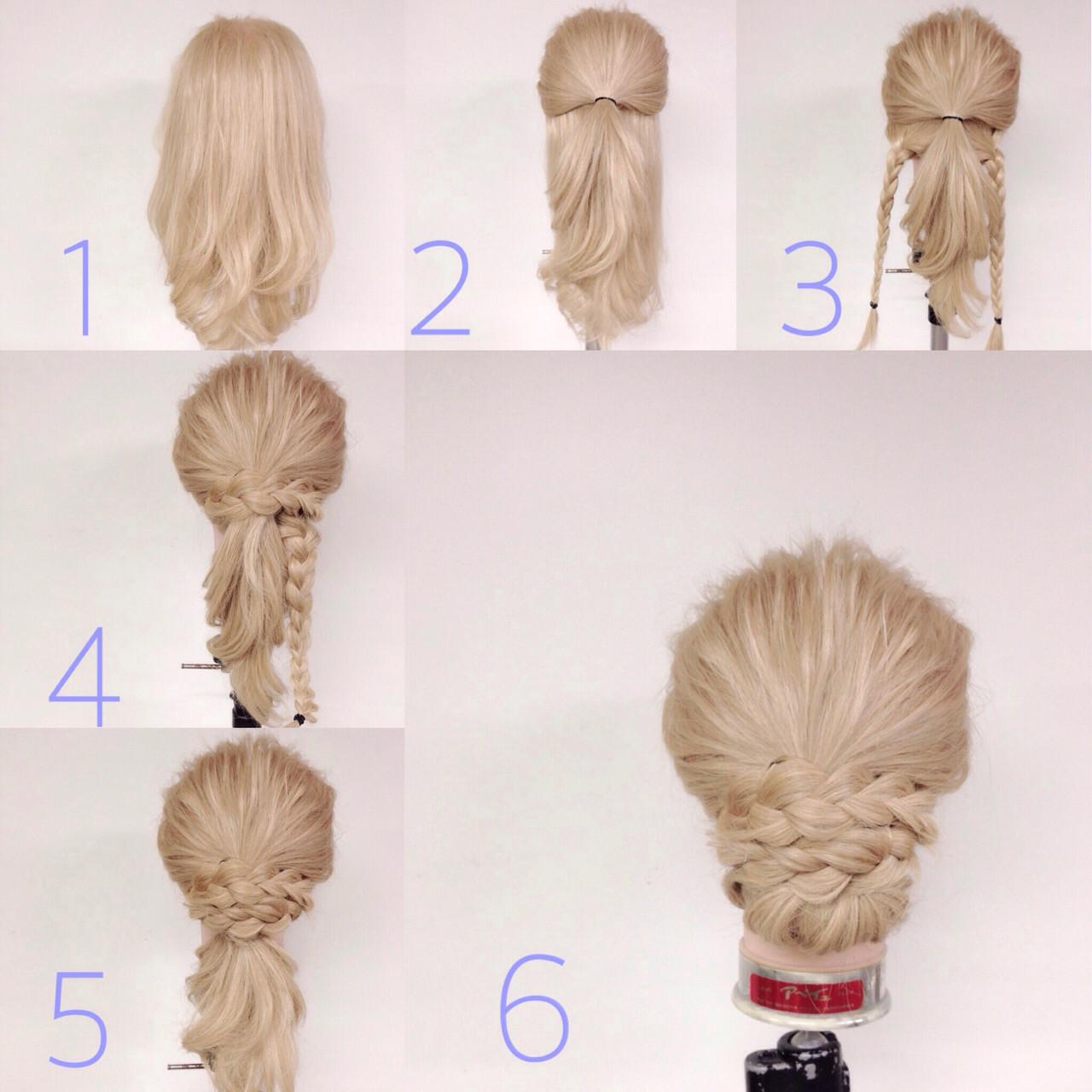 ハーフアップ×三つ編みでつくる簡単まとめ髪 あだち きみよ