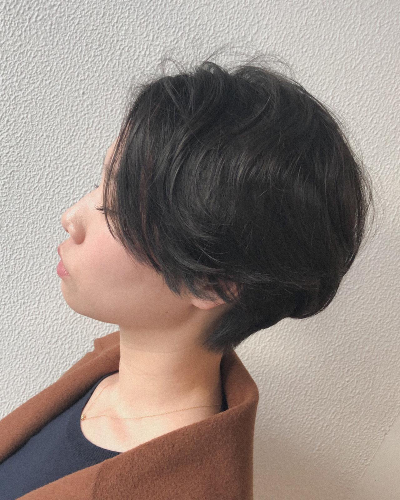 ニュアンス アンニュイ くせ毛風 ショート ヘアスタイルや髪型の写真・画像