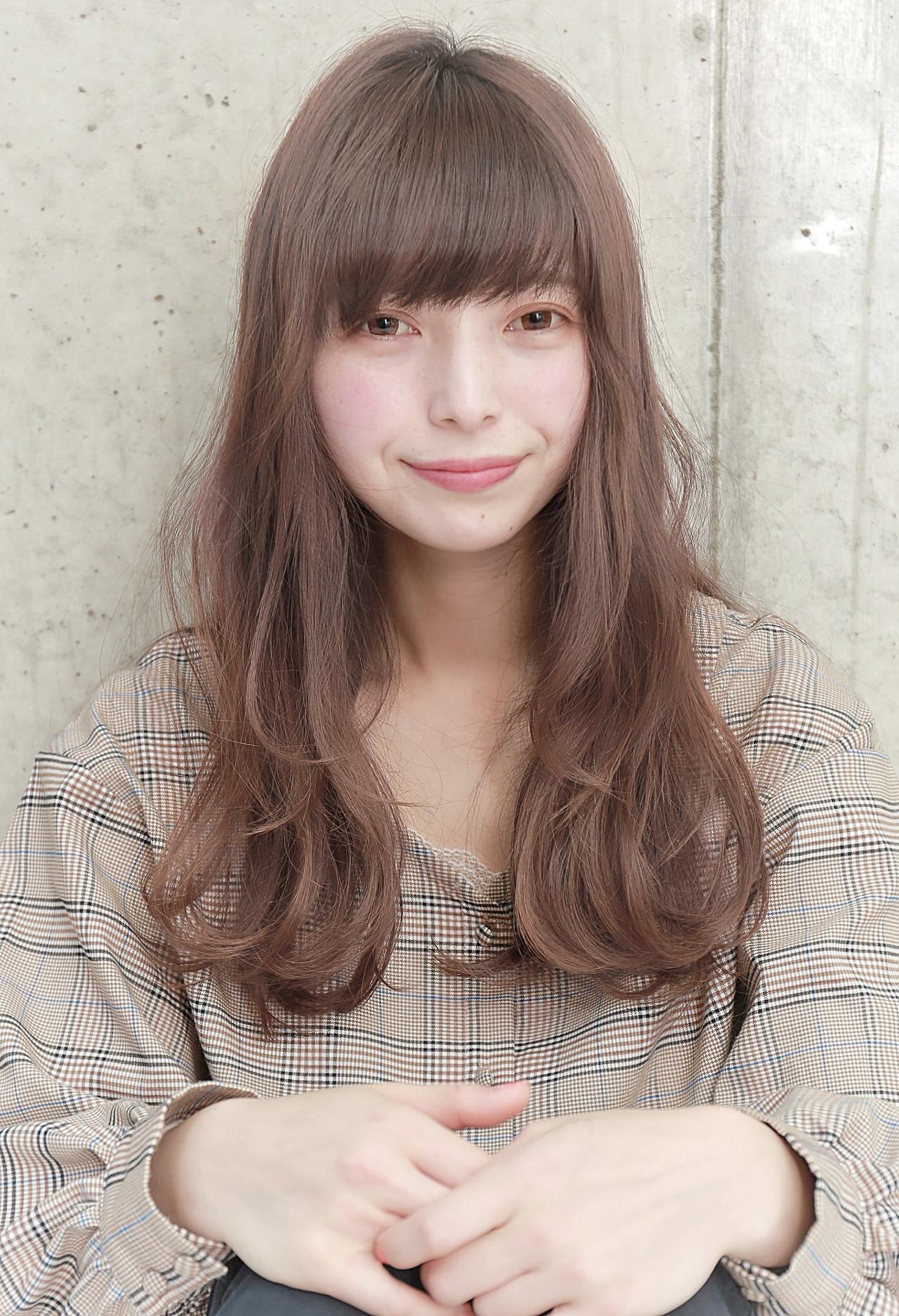 アンニュイほつれヘア ロング デート フェミニン ヘアスタイルや髪型の写真・画像
