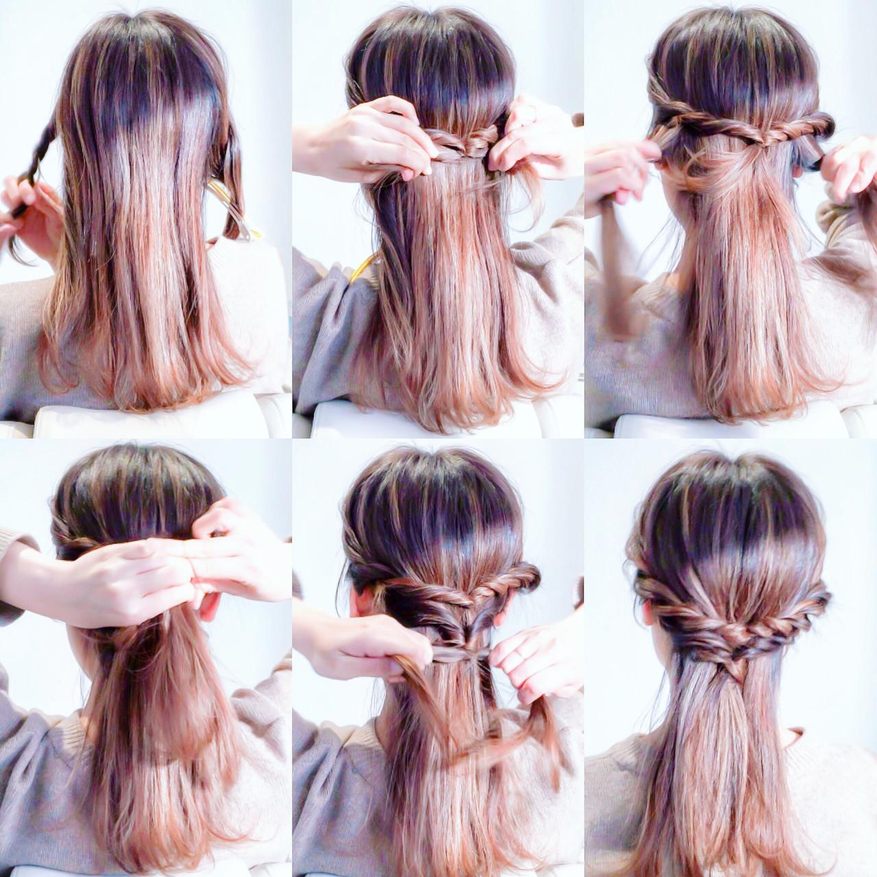 巻かないでOK!時短のストレートヘアアレンジ♡ 美容師 HIRO