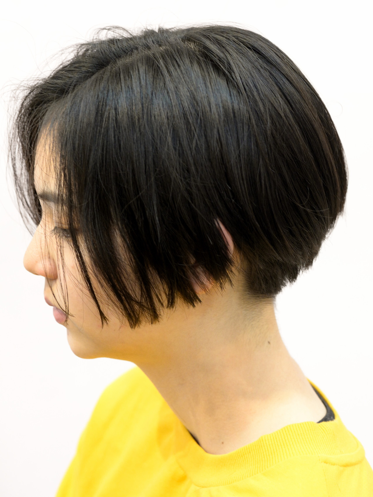 前下がりショート ショートボブ モード ボブ ヘアスタイルや髪型の写真・画像