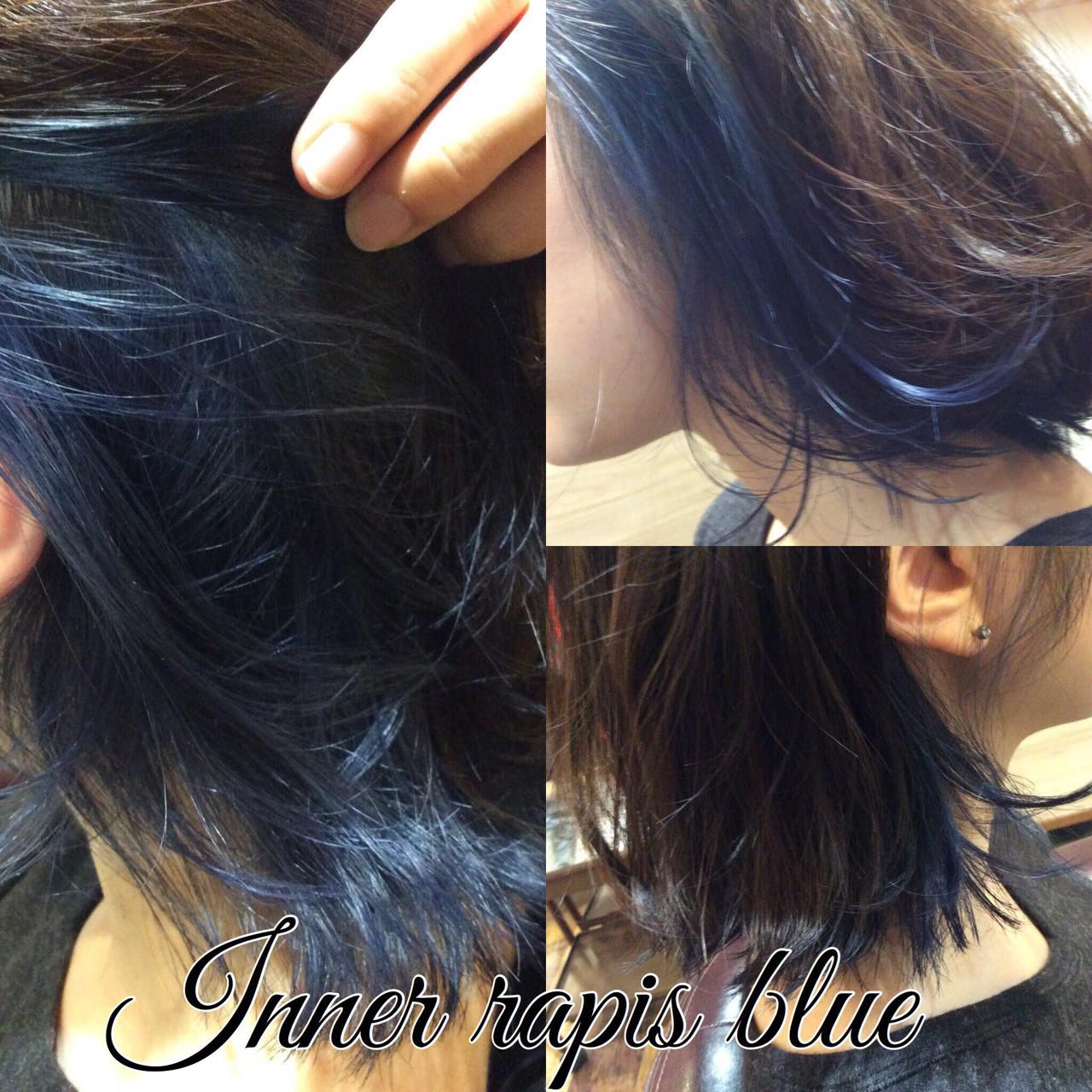 ストリート ボブ インナーカラー ヘアスタイルや髪型の写真・画像