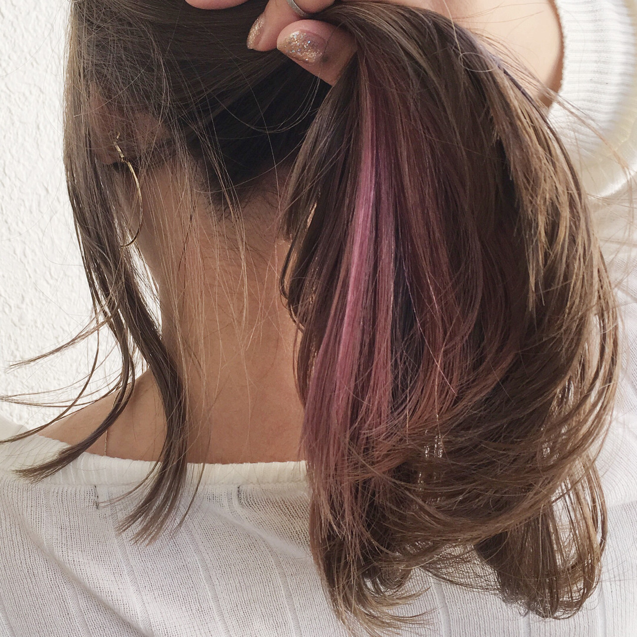 ピンクアッシュ 夏 ロング ヘアアレンジ ヘアスタイルや髪型の写真・画像