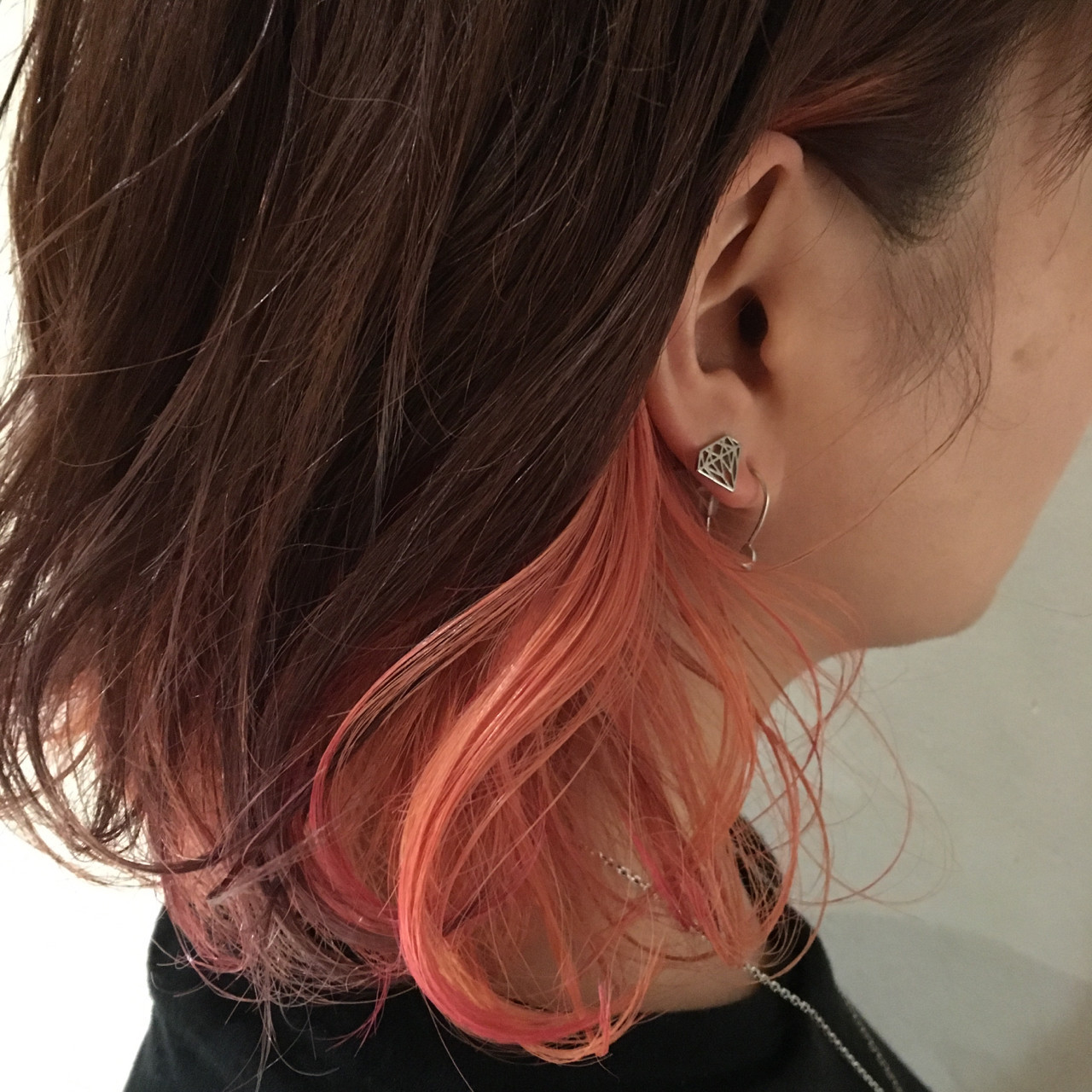ガーリー ピンク ベージュ ミディアム ヘアスタイルや髪型の写真・画像
