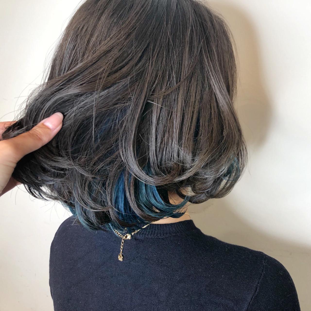 インナーカラー 愛され ゆるふわ ガーリー ヘアスタイルや髪型の写真・画像
