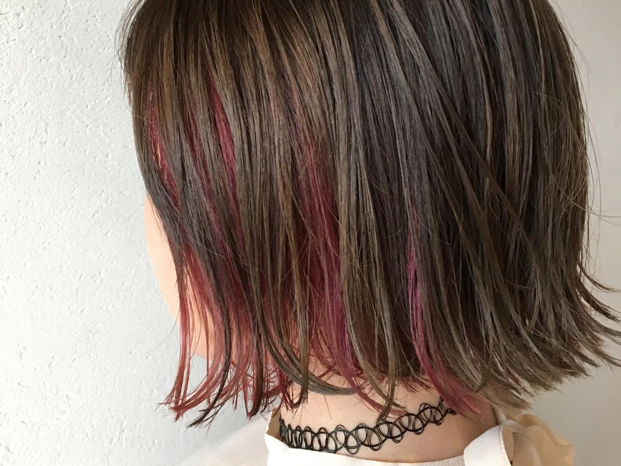 ピンクバイオレット ラベンダーピンク エレガント ピンクアッシュ ヘアスタイルや髪型の写真・画像